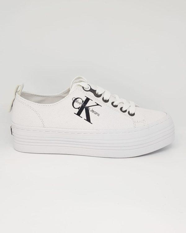 Klein Calvin Zolah Canvas Sneakers Donna White Iy7vmbf6gY